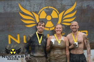 Phil Carrington, Myself and Tim Lovett at the end of Nuclear Rush