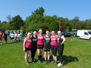 Our before Picture (L-R Viki Stapley, Tania Mellish, Helen Carrington, Lucy Warburton, Rachel Poile and Keri Saunders)
