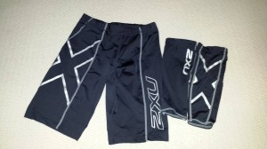 2XU compression shorts and calf guards