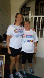 My Mum and I before the race - nice and clean