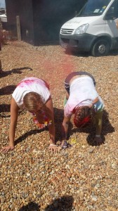 Throwing in a couple of extra mountain climbers at Colour The Coast with Cat Denning