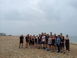 Picture taken from the RPCC Facebook page of Friday morning Beach Fit