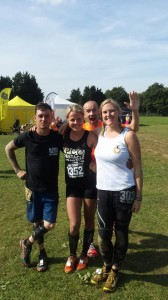 Ready to go again with Chris and Linda (and a cheeky photo-bomb by Obstacle Kit's Tim Lovett)