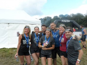 Post race group shot (L-R Linda Zeberga, Lauren Edwards-Fowle, Chris Williams, Amy Moore, Dominic Wright, Helen Carrington, Vince James)