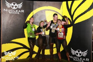 Nuclear Blackout Night finishers photo with Kate Lawless, Pete Lawless and Ella Roberts