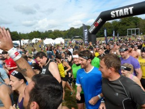 My wave starting the Spartan Sprint