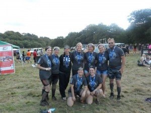 We Are Spartans AROO (L-R Lucy Warberton, Tania Mellish, Ella Roberts, Helen Carrington, Linda Zeberga, Lauren Edwards-Fowle, David Beatty, In front Kate Lawless, Viki Stapley)