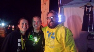 Myself with Ella and the wonderful David after our epic day of racing