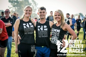 Myself with Chris and Linda before the 18km Dirty Destroyer