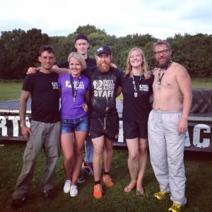 Final finishers photo. (L-R Chris Williams, Linda Zeberga, Tom Smith, Doug Spence, Helen Carrington, David Beatty)