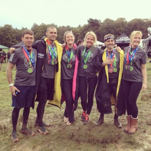 Spartan Beast done - with the greatest of team mates and friends. (L-R Chris Williams, Dominic Weight, Helen Carrington, Linda Zeberga, Vince James, Lauren Edwards-Fowle)