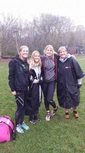 Before the race with Faye Caley, Laura Dudley and Jayne Raby from Obstacle Kit Race Team