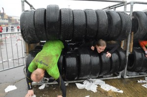Popping out of the tyres