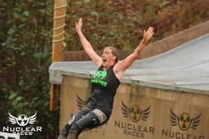 Beautiful picture of me coming off the slide (Picture courtesy of Nuclear Races)