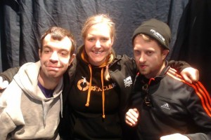 Phil, Myself and Kev in the Photo-booth before the race