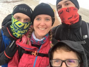 Always time for a quick selfie - taken on our first leg up Pen Y Fan