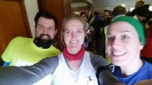 Pre-race selfie with Tom Jury and Jac Ginn