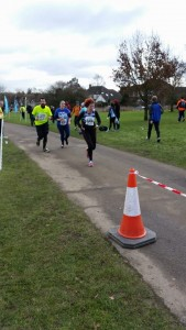 Jac and Tom coming in to the finish line
