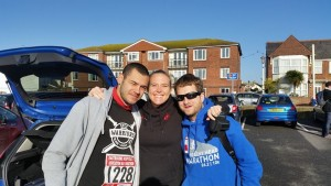 Me with Dom Wright and Kevin Coda before the Eastbourne Half