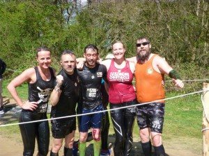 Posing after the sheep dip