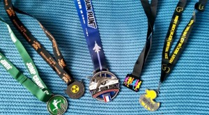 Virtual Run Bling: Muddy Race, Nuclear mission 1, Top gun Run, Run into Spring and Muddy Duck