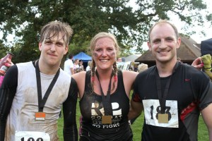 Finished, with my brother Andy, and our friend Graham.