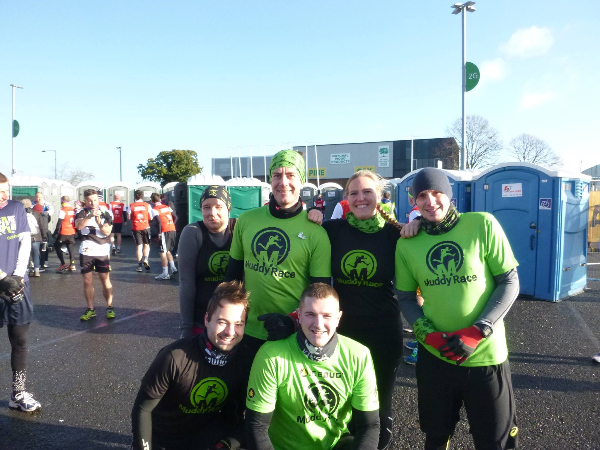 Some of Team Muddy Race before we set off