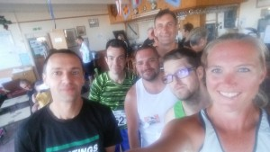 Before the run, with my boys: Kev, Ash, Phil, Jason and Ben :)