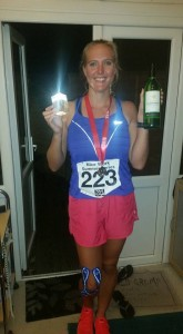 Finished, back home with my wine and trophy