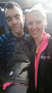 With Phil before the race, and very glad of my dryrobe