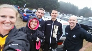 Before the run with Lucy Martlew, Kieron Booker, Blake Mitchel and Tim Lovett